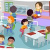 illustration-of-kids-in-a-canteen-buying-and-eating-lunch_162386327